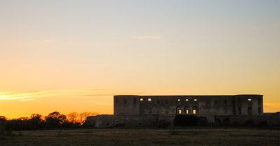 Solnedgång Borgholms slottsruin