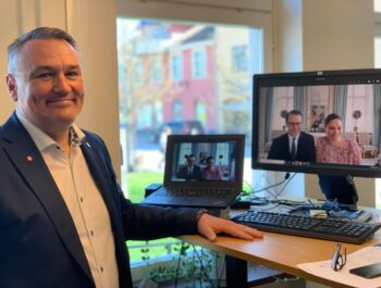 'Borgholms kommun fick digitalt besök av Kronprinsessparet' bild